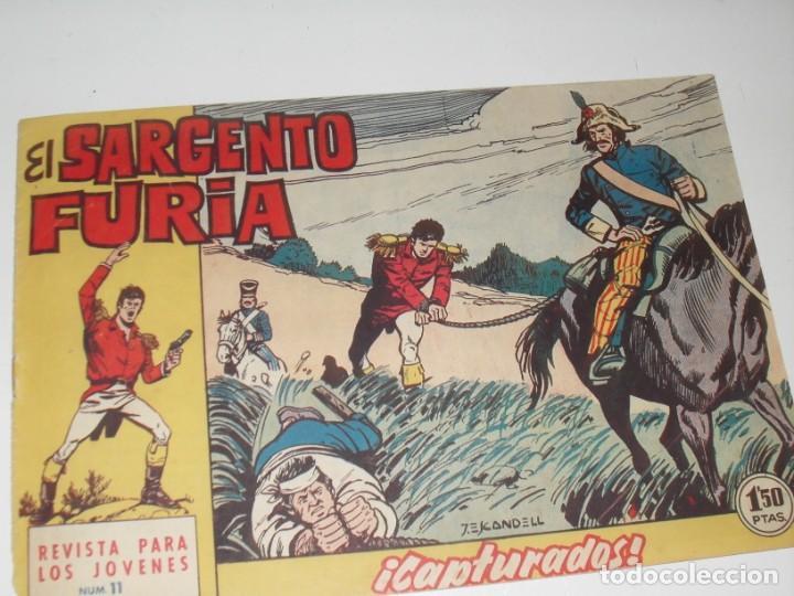 EL SARGENTO FURIA 11(DE 36).EDITORIAL BRUGUERA,AÑO 1962. (Tebeos y Comics - Bruguera - Cuadernillos Varios)
