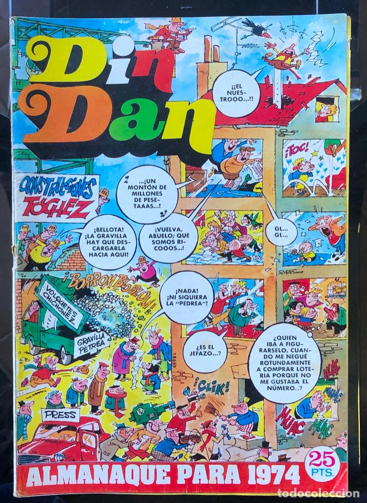 DIN DAN ALMANAQUE PARA 1974, COMPLETO Y BIEN CONSERVADO (Tebeos y Comics - Bruguera - Din Dan)