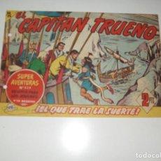 Tebeos: EL CAPITAN TRUENO 391.ORIGINAL.EDITORIAL BRUGUERA,AÑO 1956.. Lote 288150578