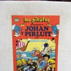 Tebeos: LOS PITUFOS PRESENTAN JOHAN Y PIRLUIT EL JURAMENTO VIKINGO Nº 18 COLECCION OLE. Lote 288209248