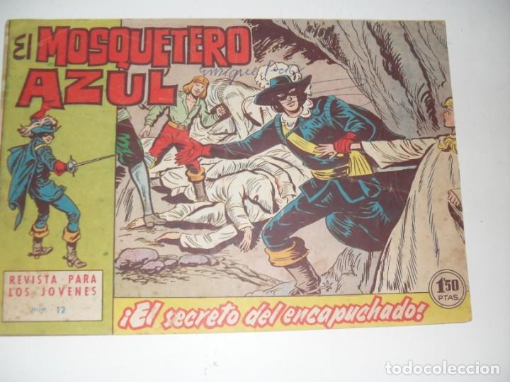 EL MOSQUETERO AZUL 12(DE 26).ORIGINAL.EDITORIAL BRUGUERA,AÑO 1962. (Tebeos y Comics - Bruguera - Cuadernillos Varios)