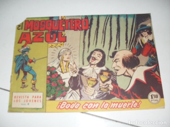 EL MOSQUETERO AZUL 4(DE 26).ORIGINAL.EDITORIAL BRUGUERA,AÑO 1962. (Tebeos y Comics - Bruguera - Cuadernillos Varios)