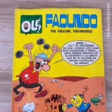 Tebeos: COLECCION OLE Nº 37. FACUNDO, POR VOCACION TROTAMUNDOS. BRUGUERA 1ª EDICION 1971. Lote 288342213