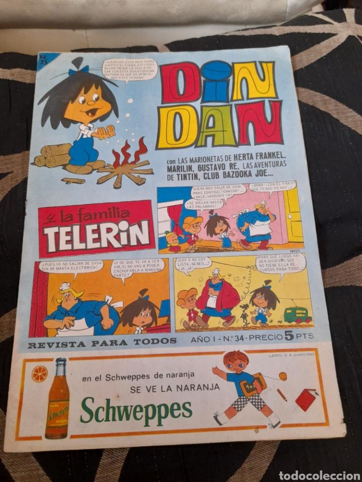 DIN DAN ,AÑO 1 N34 (Tebeos y Comics - Bruguera - Din Dan)