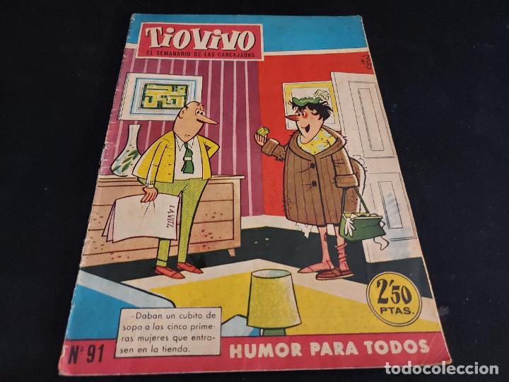 TIO VIVO / EL SEMANARIO DE LAS CARCAJADAS / 91 / 2,50 PTAS / CRISOL-1958 / ESTADO NORMAL. (Tebeos y Comics - Bruguera - Tio Vivo)