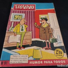 Tebeos: TIO VIVO / EL SEMANARIO DE LAS CARCAJADAS / 91 / 2,50 PTAS / CRISOL-1958 / ESTADO NORMAL.. Lote 288362328