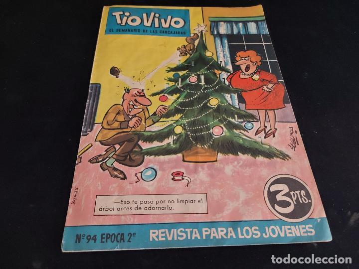 TIO VIVO / EL SEMANARIO DE LAS CARCAJADAS / ÉPOCA 2ª / 94 / 3 PTAS / AÑO 1962 / ESTADO NORMAL (Tebeos y Comics - Bruguera - Tio Vivo)