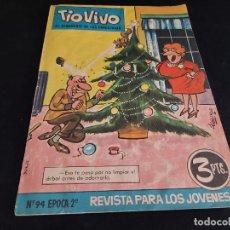 Tebeos: TIO VIVO / EL SEMANARIO DE LAS CARCAJADAS / ÉPOCA 2ª / 94 / 3 PTAS / AÑO 1962 / ESTADO NORMAL. Lote 288362943