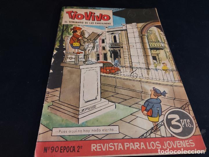 TIO VIVO / EL SEMANARIO DE LAS CARCAJADAS / ÉPOCA 2ª / 90 / 3 PTAS / AÑO 1962 / ESTADO NORMAL (Tebeos y Comics - Bruguera - Tio Vivo)