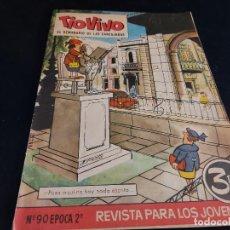 Tebeos: TIO VIVO / EL SEMANARIO DE LAS CARCAJADAS / ÉPOCA 2ª / 90 / 3 PTAS / AÑO 1962 / ESTADO NORMAL. Lote 288363368