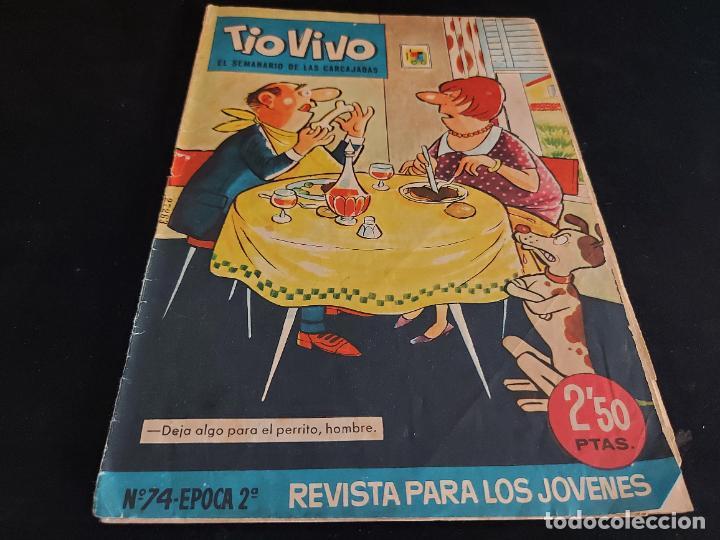 TIO VIVO / EL SEMANARIO DE LAS CARCAJADAS / ÉPOCA 2ª / 74 / 2,50 PTAS / AÑO 1962 / ESTADO NORMAL (Tebeos y Comics - Bruguera - Tio Vivo)