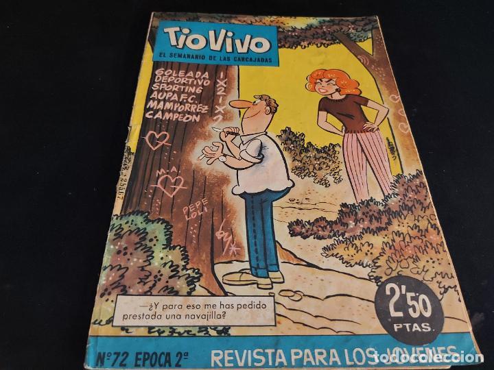 TIO VIVO / EL SEMANARIO DE LAS CARCAJADAS / ÉPOCA 2ª / 72 / 2,50 PTAS / AÑO 1962 / ESTADO NORMAL (Tebeos y Comics - Bruguera - Tio Vivo)