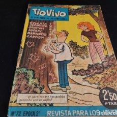 Tebeos: TIO VIVO / EL SEMANARIO DE LAS CARCAJADAS / ÉPOCA 2ª / 72 / 2,50 PTAS / AÑO 1962 / ESTADO NORMAL. Lote 288364048