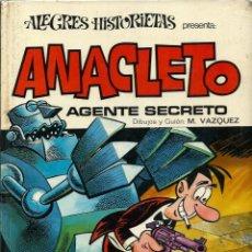 Tebeos: ANACLETO AGENTE SECRETO - COL. ALEGRES HISTORIETAS Nº 7 - BRUGUERA 1971 1ª EDICION, TAPA DURA. Lote 288364843