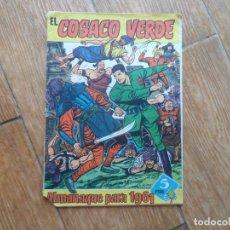 Tebeos: EL COSACO VERDE ALMANAQUE PARA 1961 EDITORIAL BRUGUERA ORIGINAL. Lote 288365198
