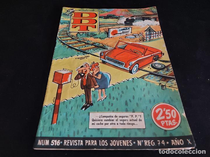 EL DDT / REVISTA PARA LOS JÓVENES / 516 / 2,50 PTAS / AÑO 1961 / ESTADO NORMAL (Tebeos y Comics - Bruguera - DDT)