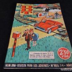 Tebeos: EL DDT / REVISTA PARA LOS JÓVENES / 516 / 2,50 PTAS / AÑO 1961 / ESTADO NORMAL. Lote 288365423