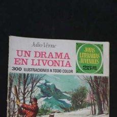 Tebeos: 1 EDICION JOYAS LITERARIAS JUVENILES, EDITORIAL BRUGUERA, NUMERO 161 UN DRAMA EN LIVONIA. Lote 288365593