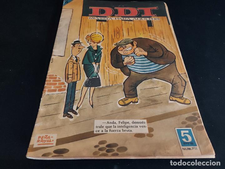 EL DDT / REVISTA PARA ADULTOS / 711 / 5 PTAS / AÑO 1964 / ESTADO NORMAL (Tebeos y Comics - Bruguera - DDT)