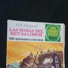 Tebeos: 1 EDICION JOYAS LITERARIAS JUVENILES, EDITORIAL BRUGUERA, NUMERO 156 LAS MINAS DEL REY SALOMON. Lote 288369743