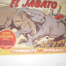 Tebeos: EL JABATO 229.ORIGINAL.EDITORIAL BRUGUERA,AÑO 1958.. Lote 288378368