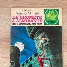 Tebeos: JOYAS LITERARIAS Nº 50. DE GRUMETE A ALMIRANTE. 1ª EDICION BRUGUERA 1972. Lote 288386393