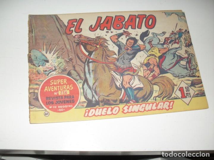 EL JABATO 61.ORIGINAL.EDITORIAL BRUGUERA,AÑO 1958. (Tebeos y Comics - Bruguera - Jabato)
