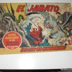Tebeos: EL JABATO 50.ORIGINAL.EDITORIAL BRUGUERA,AÑO 1958.. Lote 288454518