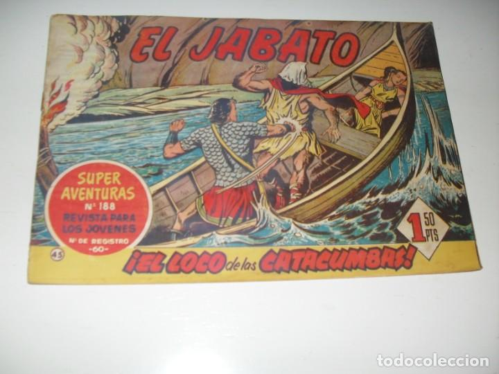 EL JABATO 45.PRIMEROS NUMEROS.ORIGINAL.EDITORIAL BRUGUERA,AÑO 1958. (Tebeos y Comics - Bruguera - Jabato)