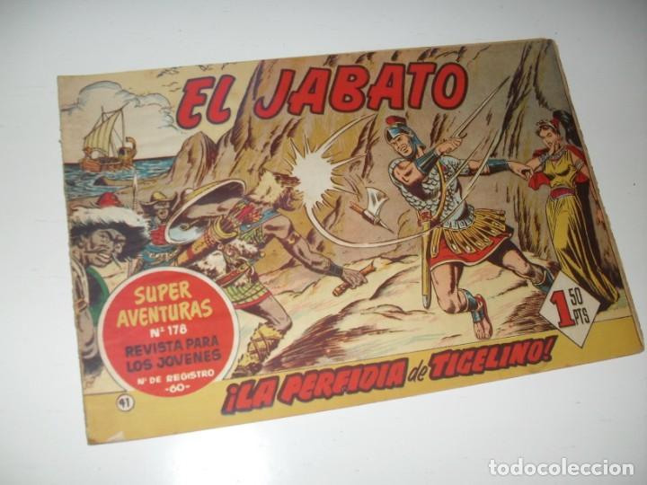 EL JABATO 41.PRIMEROS NUMEROS.ORIGINAL.EDITORIAL BRUGUERA,AÑO 1958. (Tebeos y Comics - Bruguera - Jabato)