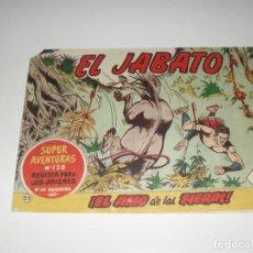 Tebeos: EL JABATO 22.PRIMEROS NUMEROS.ORIGINAL.EDITORIAL BRUGUERA,AÑO 1958.. Lote 288457233