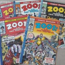 Tebeos: 2001 LA ODISEA DEL ESPACIO BRUGUERA LOTE 5 COMICS Nº 2, 3, 3, 7 Y 8. Lote 288567638