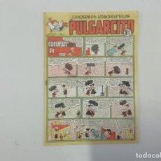 Tebeos: PULGARCITO - Nº 191 - CUADERNOS HUMORÍSTICOS - BRUGUERA - ORIGINAL AÑOS 50. Lote 288630088