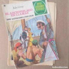 Tebeos: EL ARCHIPIÉLAGO EN LLAMAS. JULIO VERNE. JOYAS LITERARIAS JUVENILES NUM 135. SEGUNDA EDICIÓN. Lote 288973333