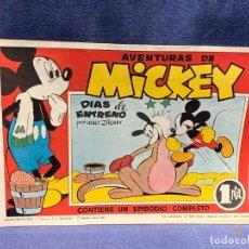 Tebeos: COMIC AVENTURA MICKEY DIAS DE ENTRENO WALT DISNEY ABRIL 1945 1ªEDICION BRUGUERA NUEVO 20X29,5CMS. Lote 288980923