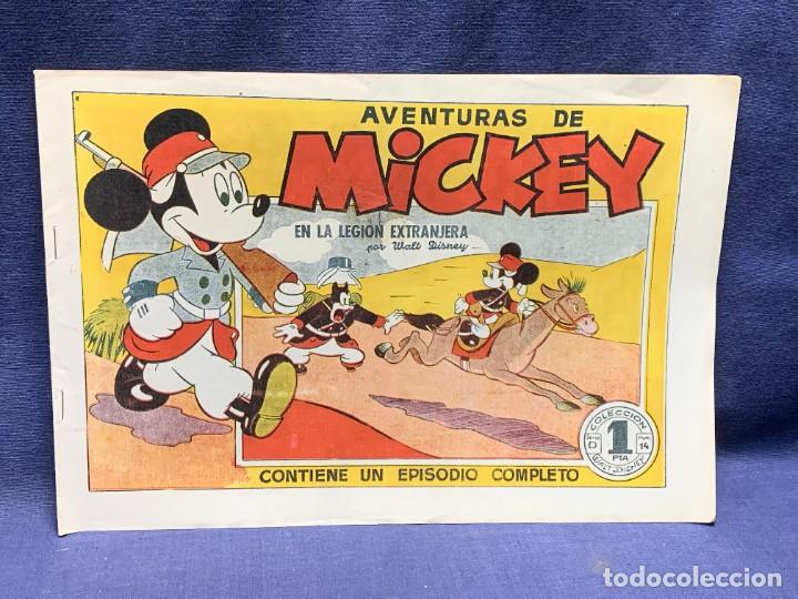 COMIC AVENTURAS MICKEY EN LA LEGION EXTRANGERA WALT DISNEY 1945 BRUGUERA 1ªEDICION 21X31CMS (Tebeos y Comics - Bruguera - Otros)