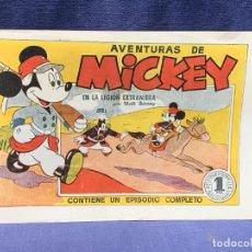 Tebeos: COMIC AVENTURAS MICKEY EN LA LEGION EXTRANGERA WALT DISNEY 1945 BRUGUERA 1ªEDICION 21X31CMS. Lote 288987473