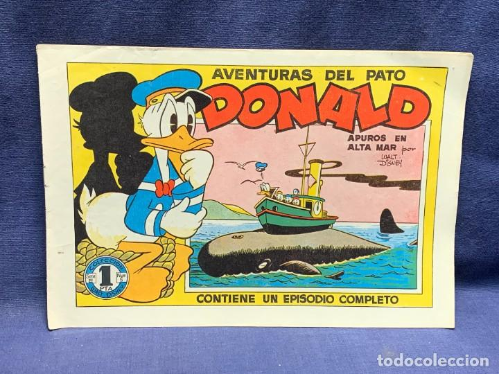 COMIC AVENTURAS DEL PATO DONALD APUROS EN EL MAR WALT DISNEY 1ªEDICION JULIO 1945 BRUGUERA 21X31CMS (Tebeos y Comics - Bruguera - Otros)