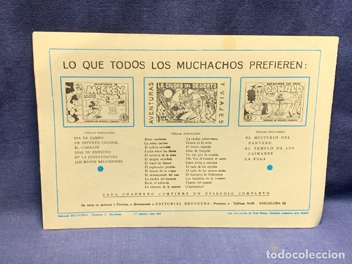 Tebeos: COMIC AVENTURAS DEL PATO DONALD APUROS EN EL MAR WALT DISNEY 1ªEDICION JULIO 1945 BRUGUERA 21X31CMS - Foto 2 - 288988398
