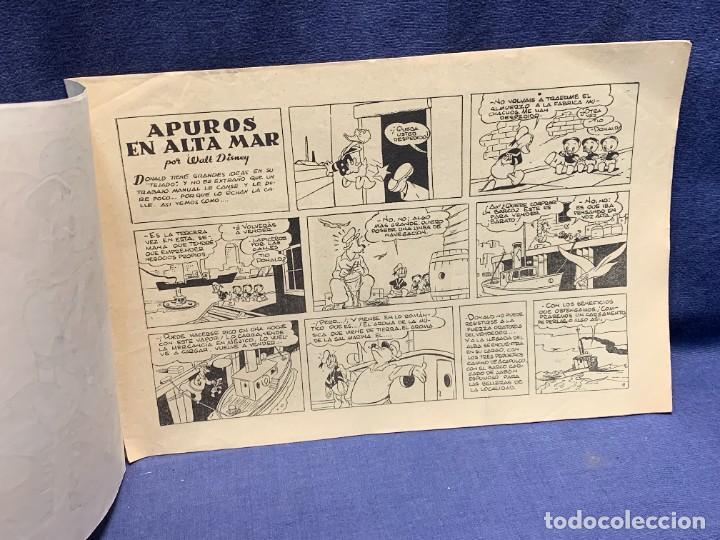 Tebeos: COMIC AVENTURAS DEL PATO DONALD APUROS EN EL MAR WALT DISNEY 1ªEDICION JULIO 1945 BRUGUERA 21X31CMS - Foto 7 - 288988398