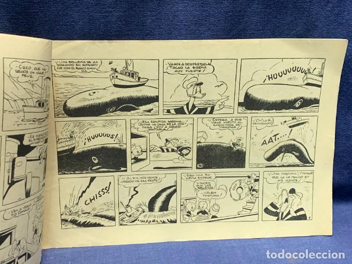 Tebeos: COMIC AVENTURAS DEL PATO DONALD APUROS EN EL MAR WALT DISNEY 1ªEDICION JULIO 1945 BRUGUERA 21X31CMS - Foto 8 - 288988398