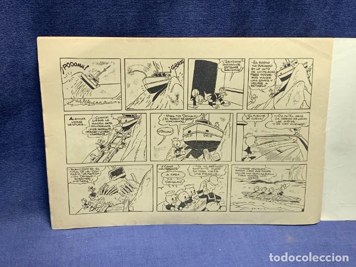 Tebeos: COMIC AVENTURAS DEL PATO DONALD APUROS EN EL MAR WALT DISNEY 1ªEDICION JULIO 1945 BRUGUERA 21X31CMS - Foto 9 - 288988398