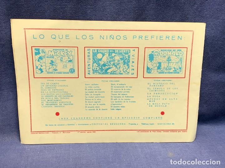 Tebeos: COMIC AVENTURAS DEL PATO DONALD LA MALAPATA DE DONALD WALT DISNEY 1ªEDI AGOSTO 1945 BRUGUERA 21X31CM - Foto 2 - 288988828