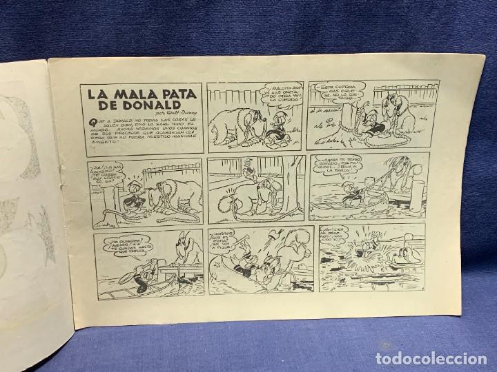 Tebeos: COMIC AVENTURAS DEL PATO DONALD LA MALAPATA DE DONALD WALT DISNEY 1ªEDI AGOSTO 1945 BRUGUERA 21X31CM - Foto 8 - 288988828