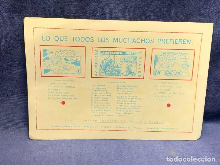 Tebeos: COMIC AVENTURAS DEL PATO DONALD EL MISTERIO DEL PANTANO WALT DISNEY BRUGUERA 1ªEDICION 1945 21X31CMS - Foto 2 - 288989758