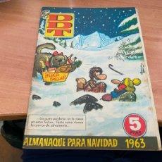 Tebeos: DDT ALMANAQUE PARA NAVIDAD 1963 (ORIGINAL BRUGUERA) (COIB207). Lote 289901078