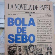 Tebeos: LA NOVELA DE PAPEL-BRUGUERA- Nº 18 -BOLA DE SEBO-GUY DE MAUPASSANT-1986-BUENO-DIFÍCIL-LEA-5611. Lote 290114568