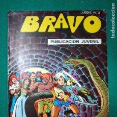 Tebeos: BRAVO Nº 3. AÑO I. EL CACHORRO, Nº 2: ¡FUGA ACCIDENTADA!. BRUGUERA, ABRIL 1976. Lote 290441723