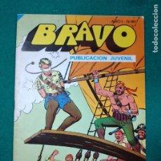 Tebeos: BRAVO Nº 81. AÑO I. EL CACHORRO, Nº 41: ¡LUCHA EN EL APAREJO!. BRUGUERA, ENERO 1977. Lote 290441978