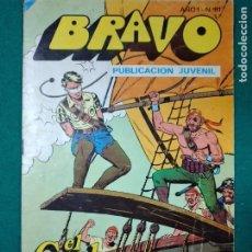 Tebeos: BRAVO Nº 81. AÑO I. EL CACHORRO, Nº 41: ¡LUCHA EN EL APAREJO!. BRUGUERA, ENERO 1977. Lote 290442048